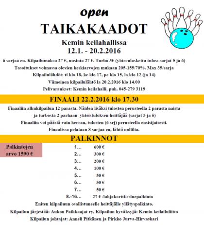 Taikakaadot 2016 Open